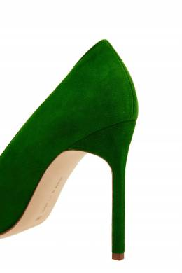 Зеленые замшевые туфли BB Manolo Blahnik 166124078