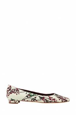 Туфли BBflatlan с цветочным принтом Manolo Blahnik 166124137