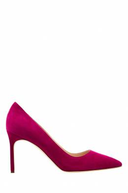 Розовые замшевые туфли BB Manolo Blahnik 166124142