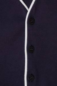 Синяя хлопковая жилетка с отделкой Il Gufo 1205123868