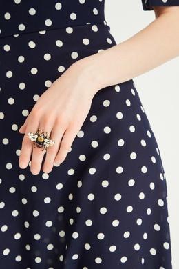 Кольцо-пчела с кристаллами и жемчугом Gucci 470127308