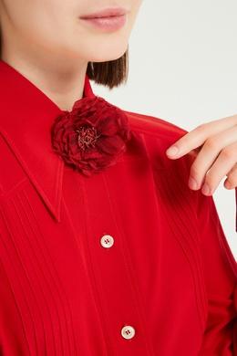 Брошь в виде красного цветка Gucci 470127330