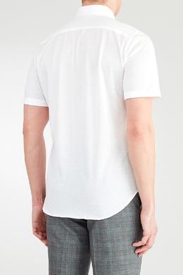 Белая рубашка с короткими рукавами Canali 1793126719