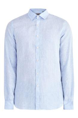 Голубая фактурная рубашка Canali 1793126714