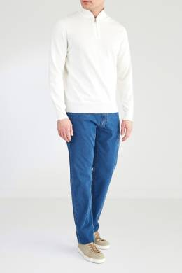 Молочный свитер с застежкой-молнией Canali 1793126735