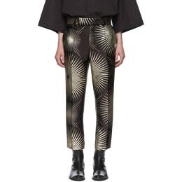 Haider Ackermann Black Silk Skinny-Leg Trousers 192542M19100101GB