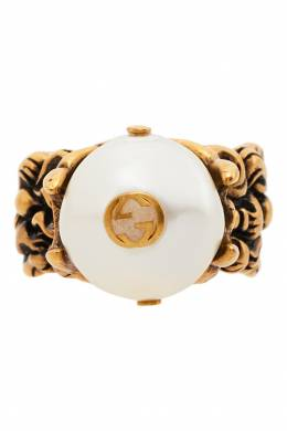 Кольцо с жемчужиной и логотипом GG Gucci 470127494