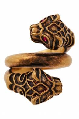 Кольцо с тигриными головами Gucci 470127496