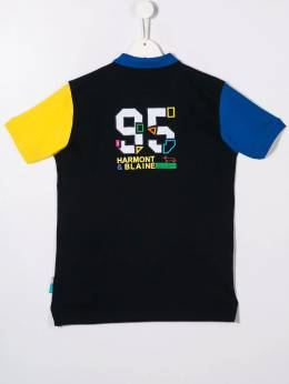 Harmont & Blaine Junior - рубашка-поло в стиле колор-блок JL669956005380000000