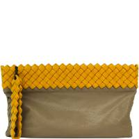 Bottega Veneta Two Tone Intrecciato Leather Clutch Bag 192704