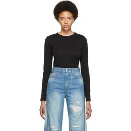 Rag&Bone Black The Long Sleeve T-Shirt 192055F11002003GB