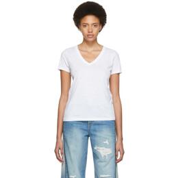 Rag&Bone White The Vee T-Shirt 192055F11001901GB