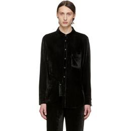 Sies Marjan SSENSE Exclusive Black Velvet Cord Sander Shirt 192885M19200102GB