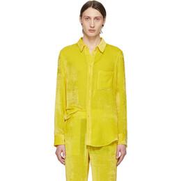 Sies Marjan SSENSE Exclusive Yellow Velvet Cord Shirt 192885M19200201GB