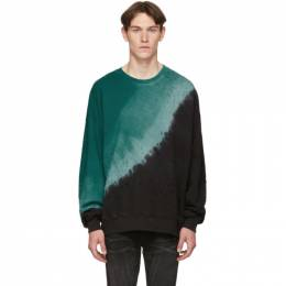 Amiri Black and Green Tie-Dye Shotgun Sweatshirt 192886M20400205GB