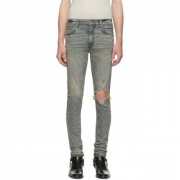 Amiri Indigo Dirty Broken Jeans 192886M18601709GB