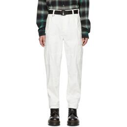 Ksubi White Raws Cargo Pants 450006117