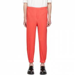 Homme Plisse Issey Miyake Red Tapered Pleat Trousers 192729M19100401GB
