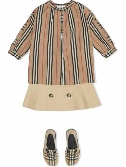 Burberry Kids - блузка Icon в полоску и клетку vintage check 35609563065900000000