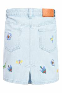 Джинсовая юбка с вышивкой Gucci Kids 1256130007