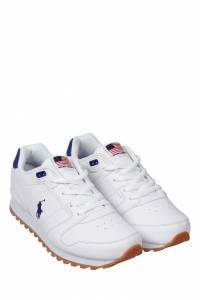 Белые кроссовки с вышивкой Ralph Lauren Kids 1252130302