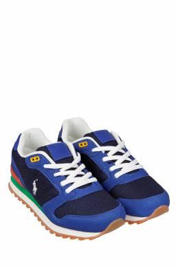 Синие комбинированные кроссовки Ralph Lauren Kids 1252130303