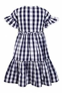 Платье в контрастную клетку Il Gufo 1205130089