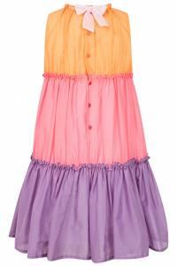 Трехцветное платье Il Gufo 1205130064