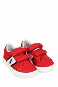Красные кеды на липучке Ralph Lauren Kids 1252130289