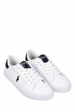 Белые кеды с контрастными вставками Ralph Lauren Kids 1252130279