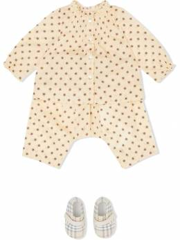 Burberry Kids - блузка с оборками и принтом 39959563393500000000