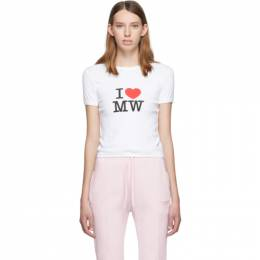 Vetements White Fitted T-Shirt 192669F11001603GB