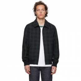 A.P.C. Green and Navy Sutherland Jacket 192252M18000105GB