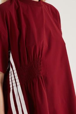 Бордовая футболка с полосками Y-3 1044131114
