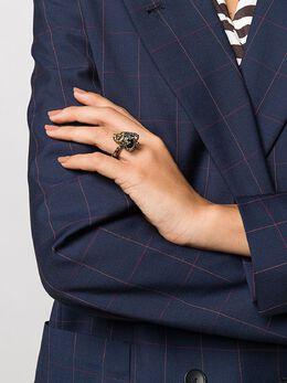 Alexander McQueen кольцо King Skull 553661J160Z