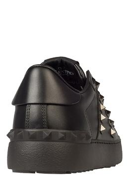 Черные кеды Rockstud Untitled с отделкой Valentino 210132183