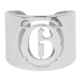 Mm6 Maison Margiela Silver Logo Ring 192188F02400303GB