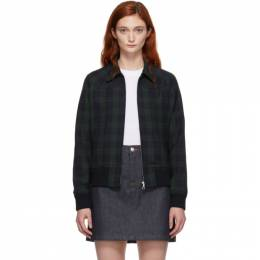 A.P.C. Green and Navy Candem Jacket 192252F06300101GB