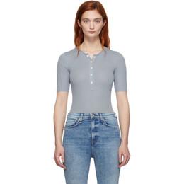Rag&Bone Blue Mac Bodysuit 192055F28400101GB