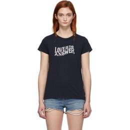 Rag&Bone Navy Love T-Shirt 192055F11000504GB