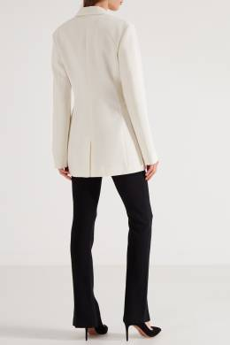 Удлиненный белый жакет Victoria Beckham 212131992
