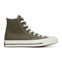Converse Green Chuck 70 High Sneakers 192799M23600410GB