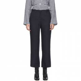 Mansur Gavriel Blue Straight Trousers 192662F08700102GB