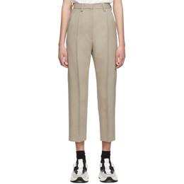 Mm6 Maison Margiela Beige Wool Trousers 192188F08700204GB
