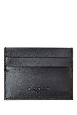 Черная кожаная визитница Canali 1793126773