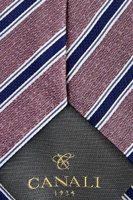 Контрастный галстук в полоску Canali 1793126702
