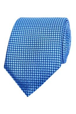 Голубой галстук с мелким узором Canali 1793126686