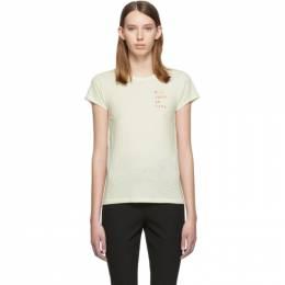Rag&Bone Off-White Mother Nature T-Shirt 192055F11000903GB