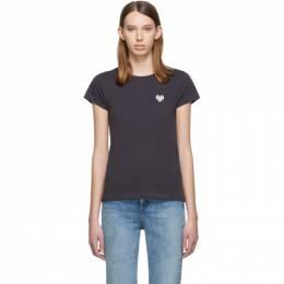 Rag&Bone Grey Heart T-Shirt 192055F11001003GB