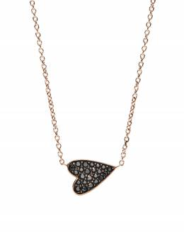 Ожерелье Оттенка Розового Золота с Блестящим Сердцем Fossil JF03090791
